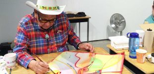 Alex Janvier, in residence